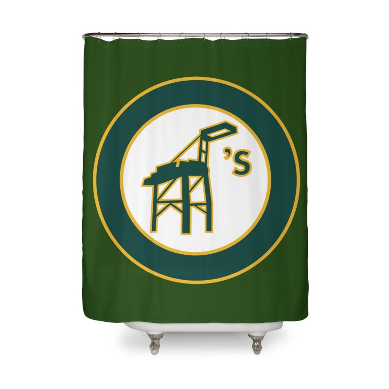 Oakland's Home Shower Curtain by Mike Hampton's T-Shirt Shop