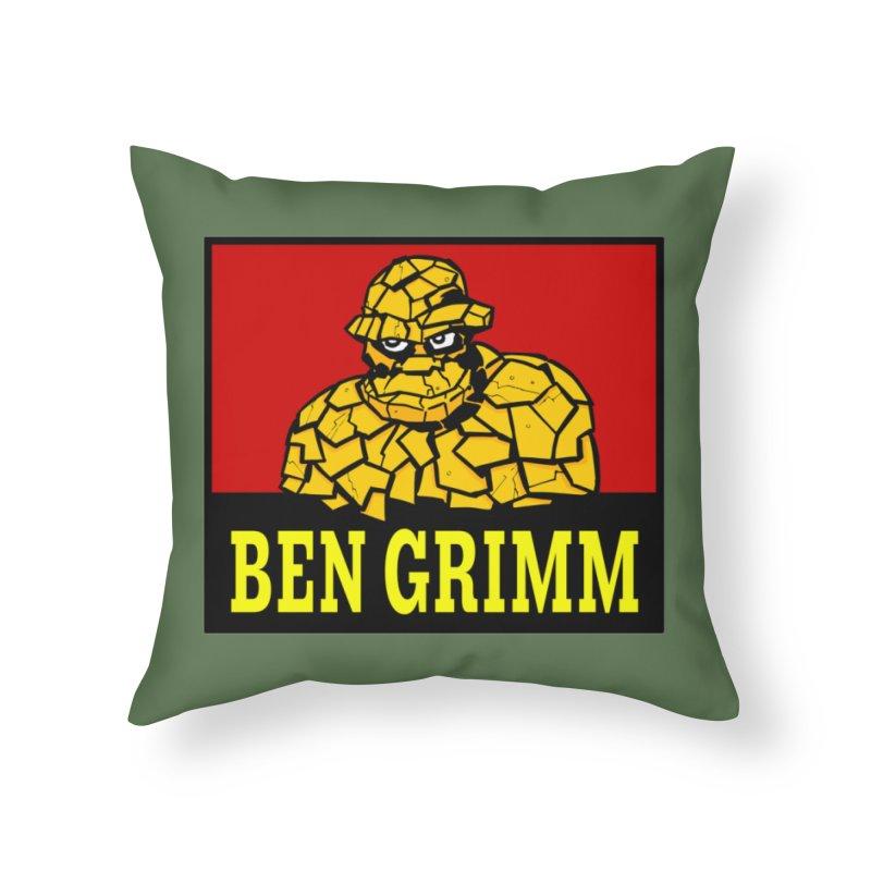 Plenty Tough Clobberin' Time Clothes Home Throw Pillow by Mike Hampton's T-Shirt Shop