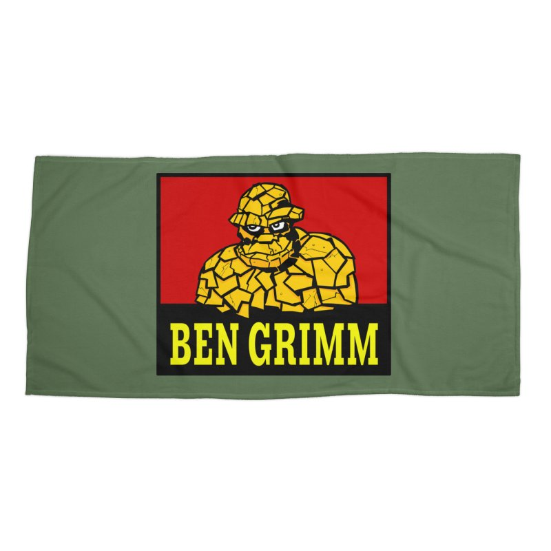Plenty Tough Clobberin' Time Clothes Accessories Beach Towel by Mike Hampton's T-Shirt Shop