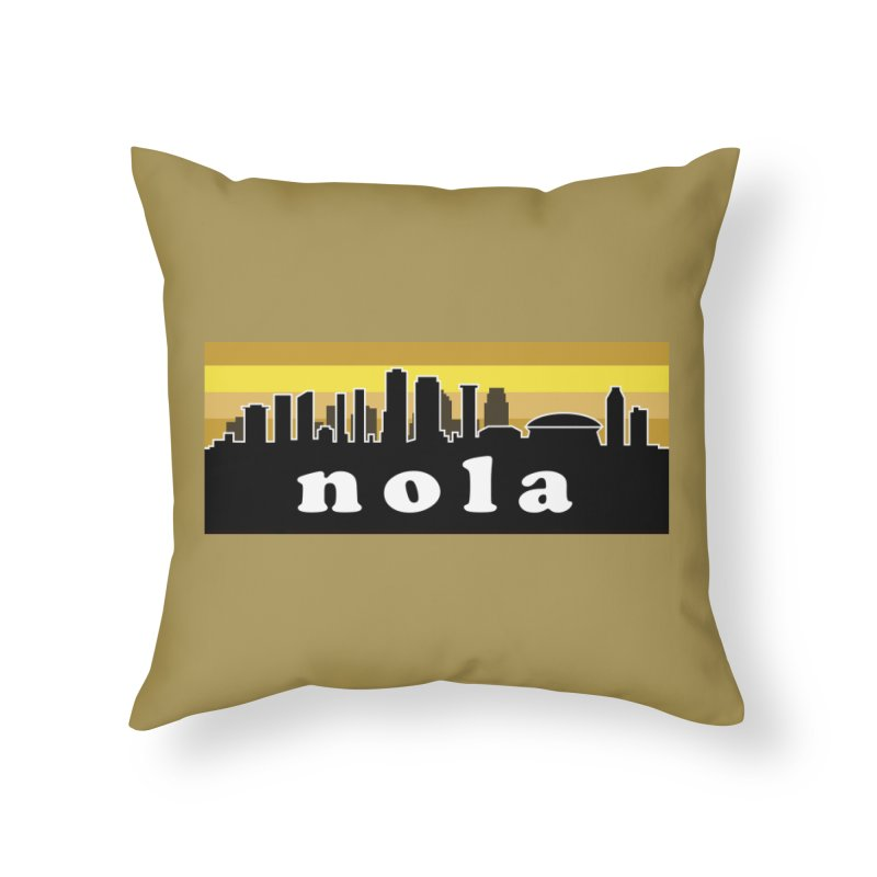 NoLa Home Throw Pillow by Mike Hampton's T-Shirt Shop