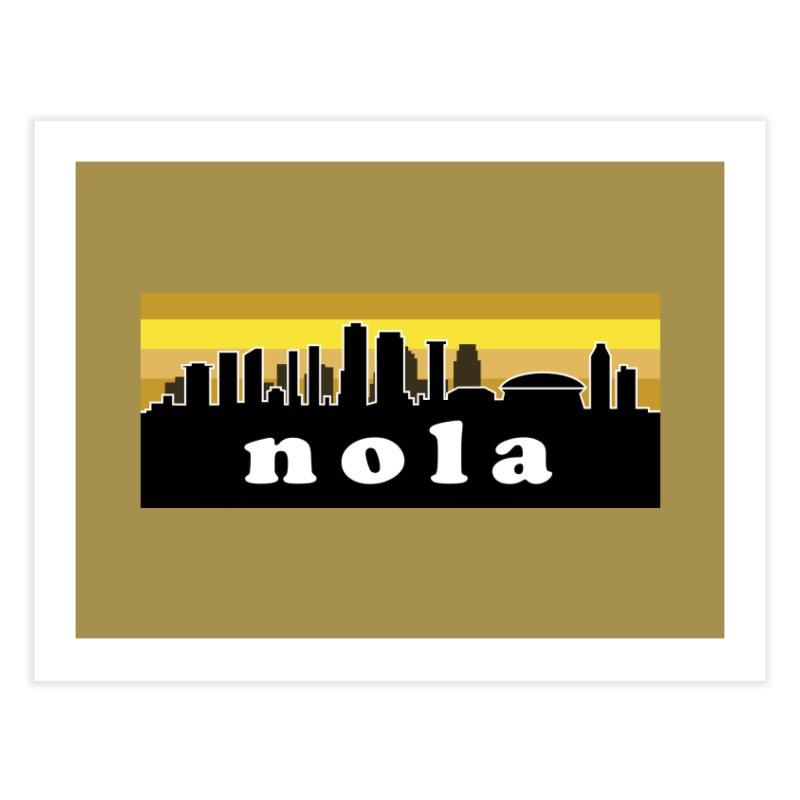 NoLa Home Fine Art Print by Mike Hampton's T-Shirt Shop