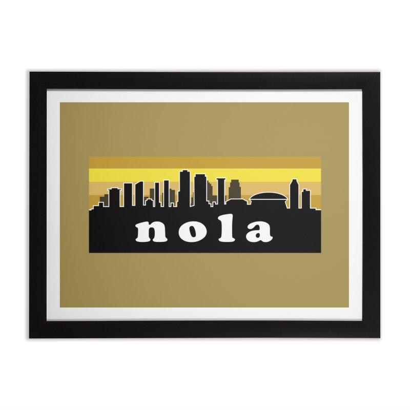 NoLa Home Framed Fine Art Print by Mike Hampton's T-Shirt Shop