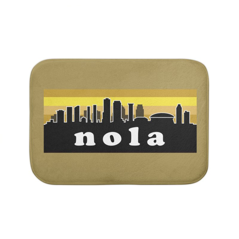 NoLa Home Bath Mat by Mike Hampton's T-Shirt Shop