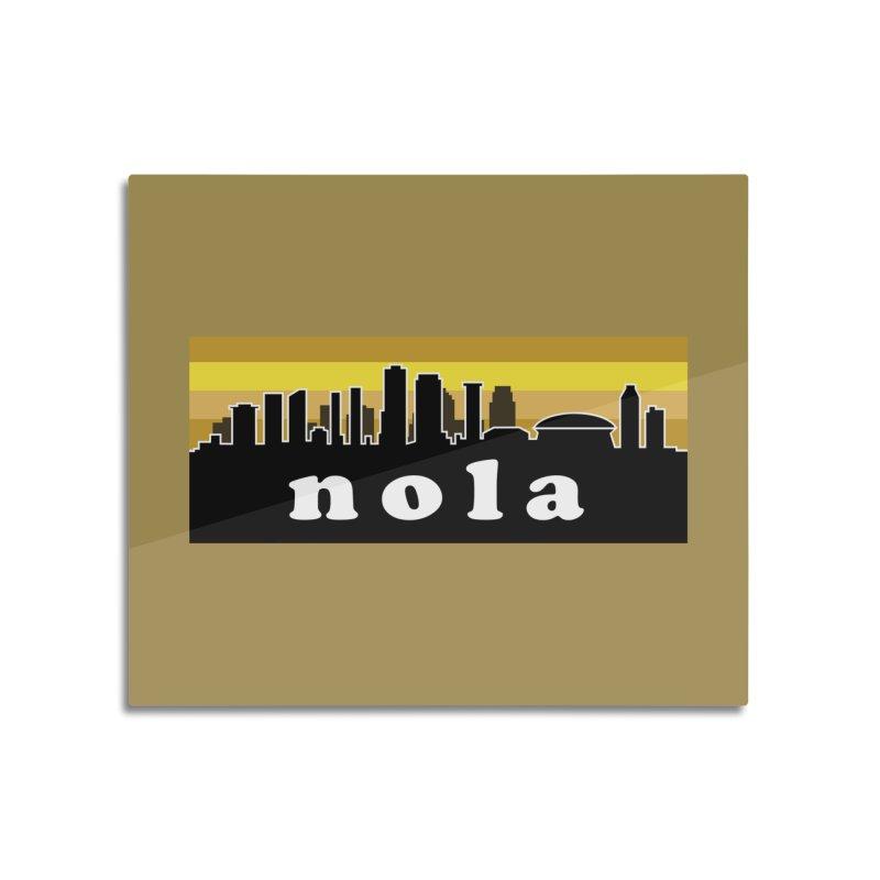 NoLa Home Mounted Aluminum Print by Mike Hampton's T-Shirt Shop