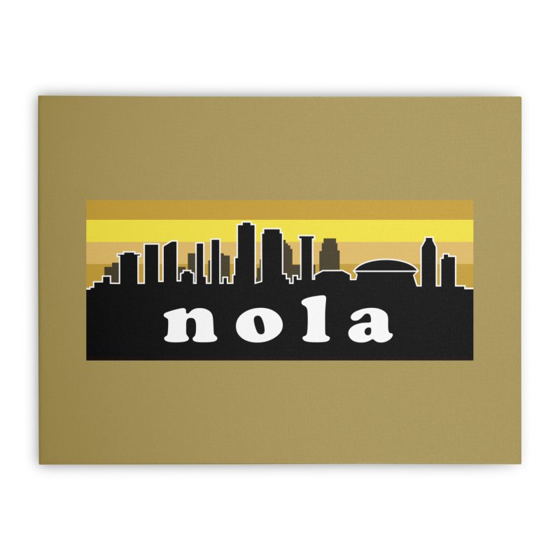 NoLa Home Stretched Canvas by Mike Hampton's T-Shirt Shop