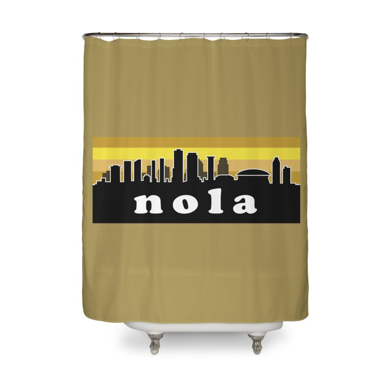 NoLa Home Shower Curtain by Mike Hampton's T-Shirt Shop