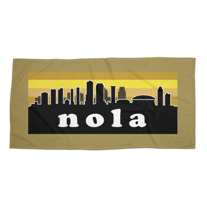 NoLa Accessories Beach Towel by Mike Hampton's T-Shirt Shop