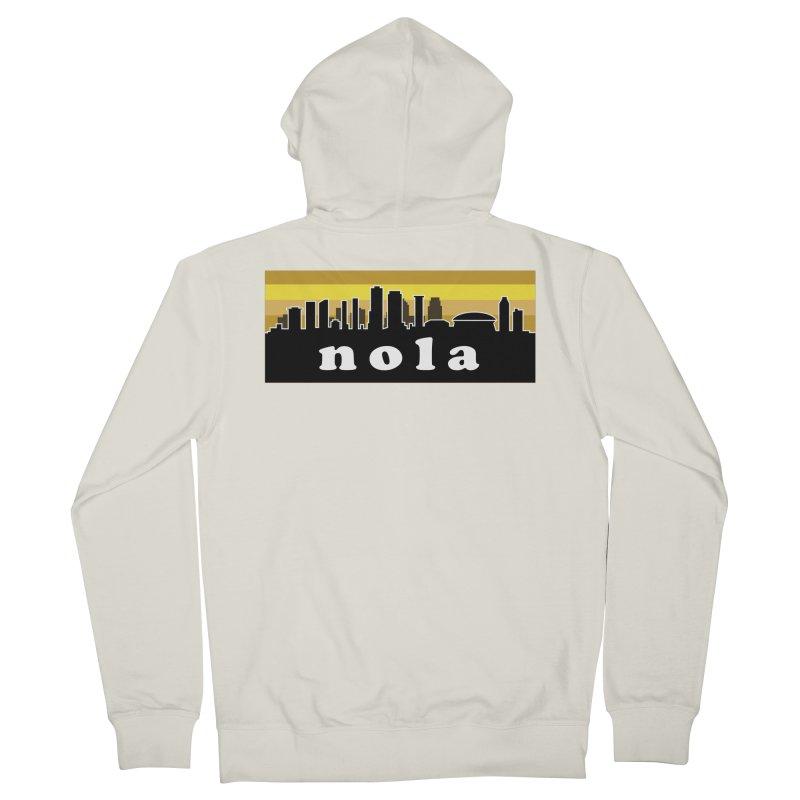 NoLa Men's French Terry Zip-Up Hoody by Mike Hampton's T-Shirt Shop
