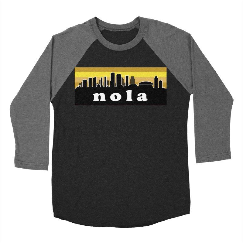 NoLa Men's Baseball Triblend Longsleeve T-Shirt by Mike Hampton's T-Shirt Shop