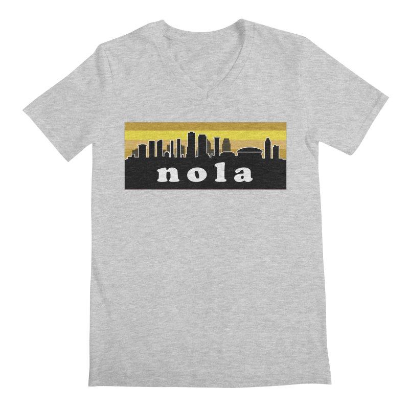 NoLa Men's Regular V-Neck by Mike Hampton's T-Shirt Shop