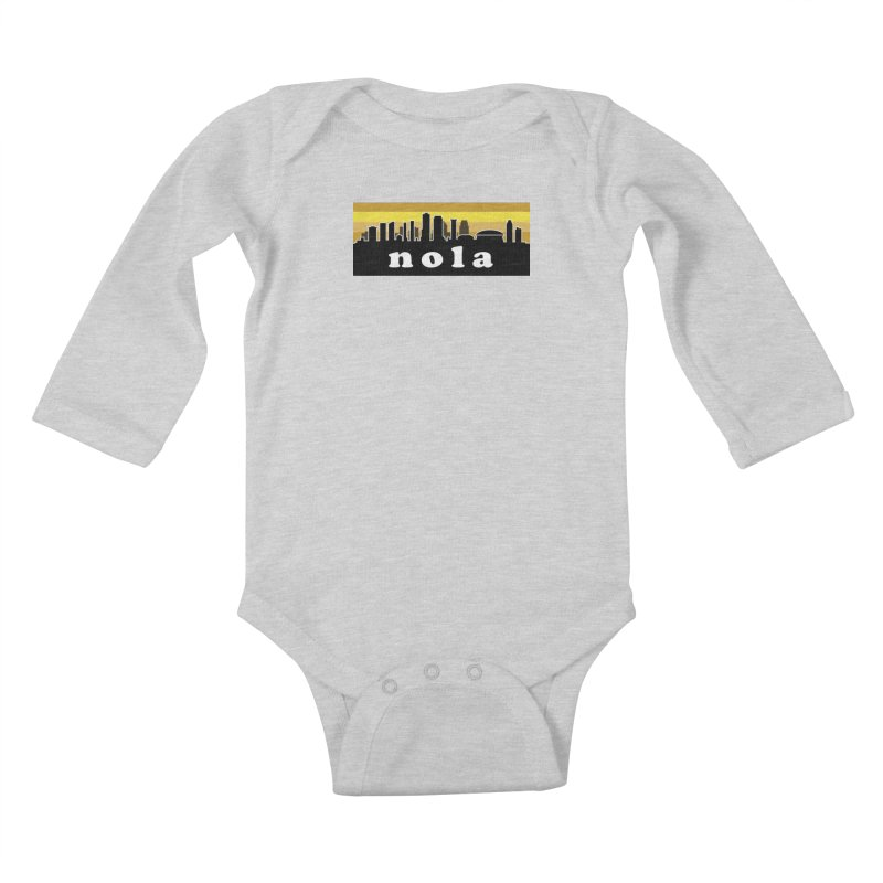 NoLa Kids Baby Longsleeve Bodysuit by Mike Hampton's T-Shirt Shop