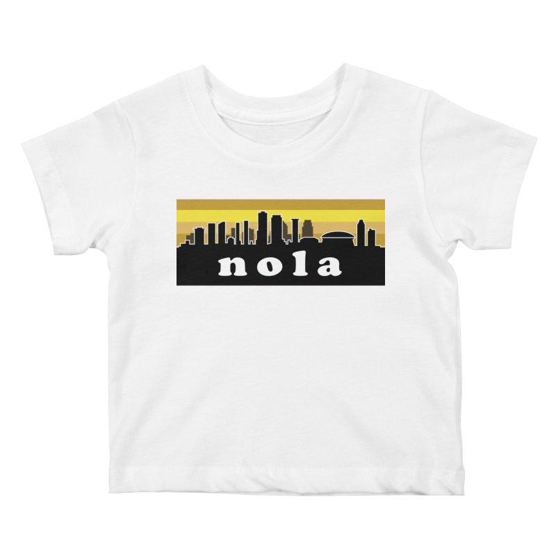 NoLa Kids Baby T-Shirt by Mike Hampton's T-Shirt Shop