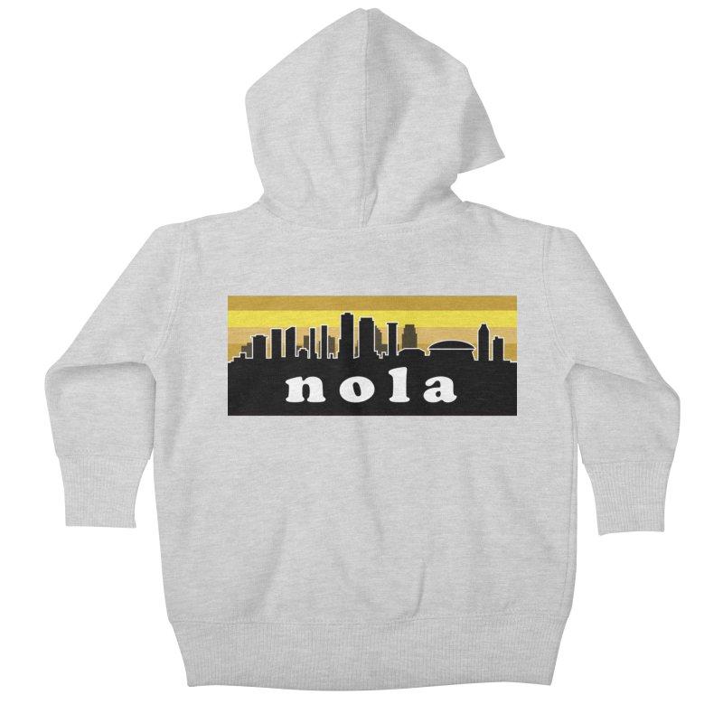 NoLa Kids Baby Zip-Up Hoody by Mike Hampton's T-Shirt Shop