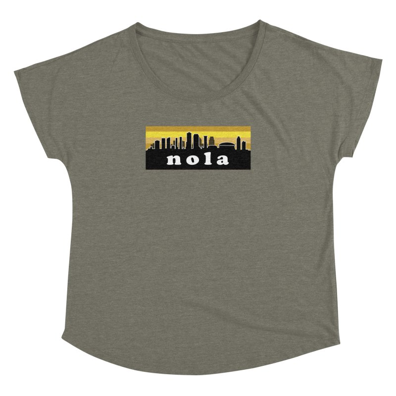 NoLa Women's Dolman Scoop Neck by Mike Hampton's T-Shirt Shop
