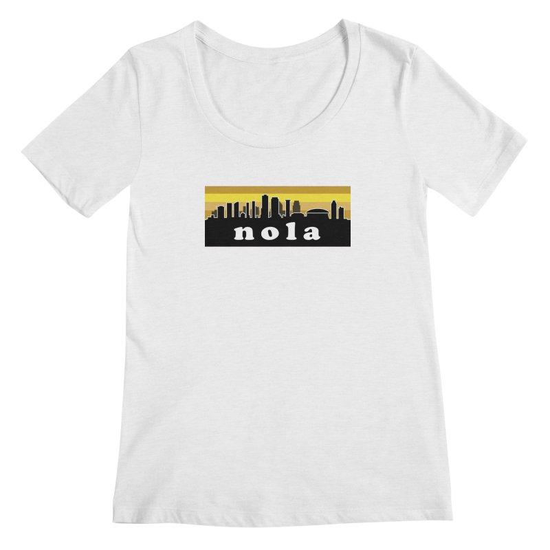 NoLa Women's Regular Scoop Neck by Mike Hampton's T-Shirt Shop