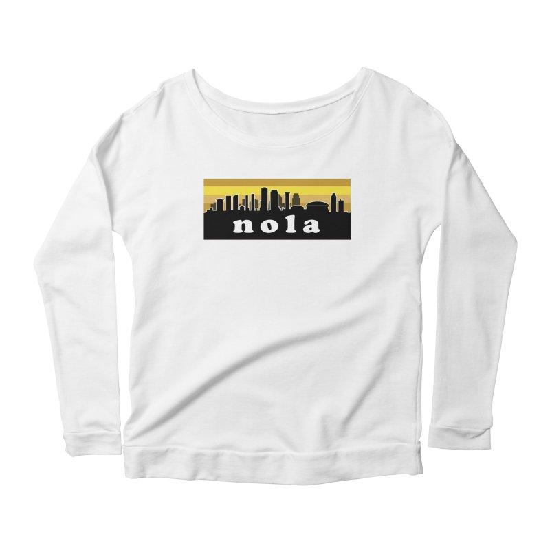 NoLa Women's Scoop Neck Longsleeve T-Shirt by Mike Hampton's T-Shirt Shop
