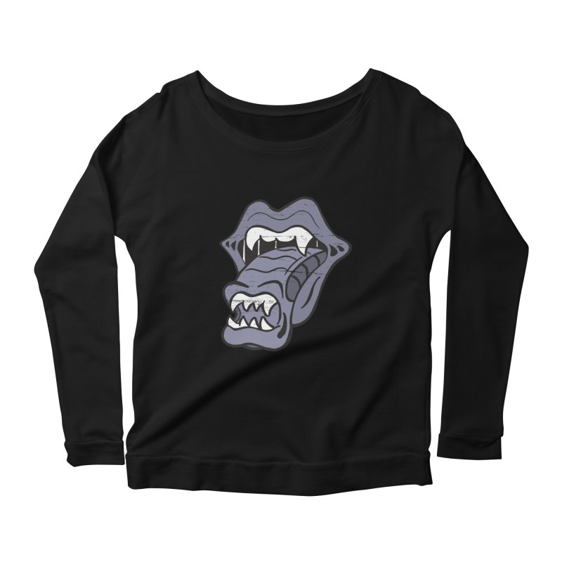 In Space, No One Can Hear You Play The Stones Women's Scoop Neck Longsleeve T-Shirt by Mike Hampton's T-Shirt Shop