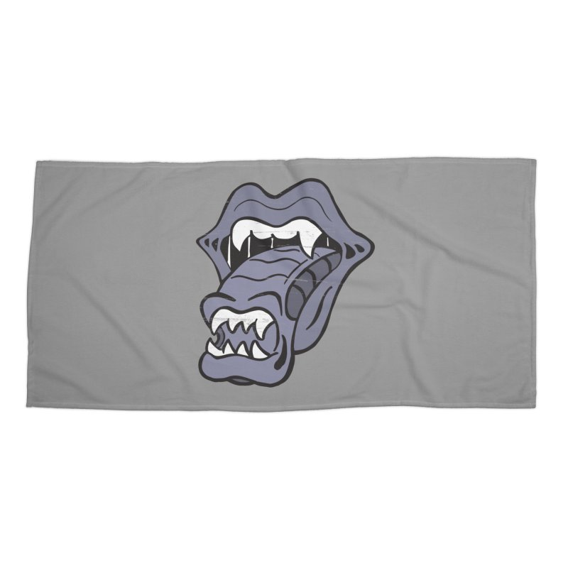 In Space, No One Can Hear You Play The Stones Accessories Beach Towel by Mike Hampton's T-Shirt Shop