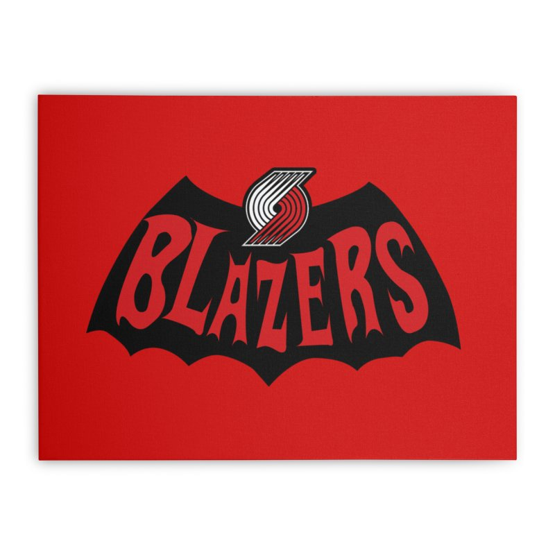 Rip City is the new Gotham City Home Stretched Canvas by Mike Hampton's T-Shirt Shop
