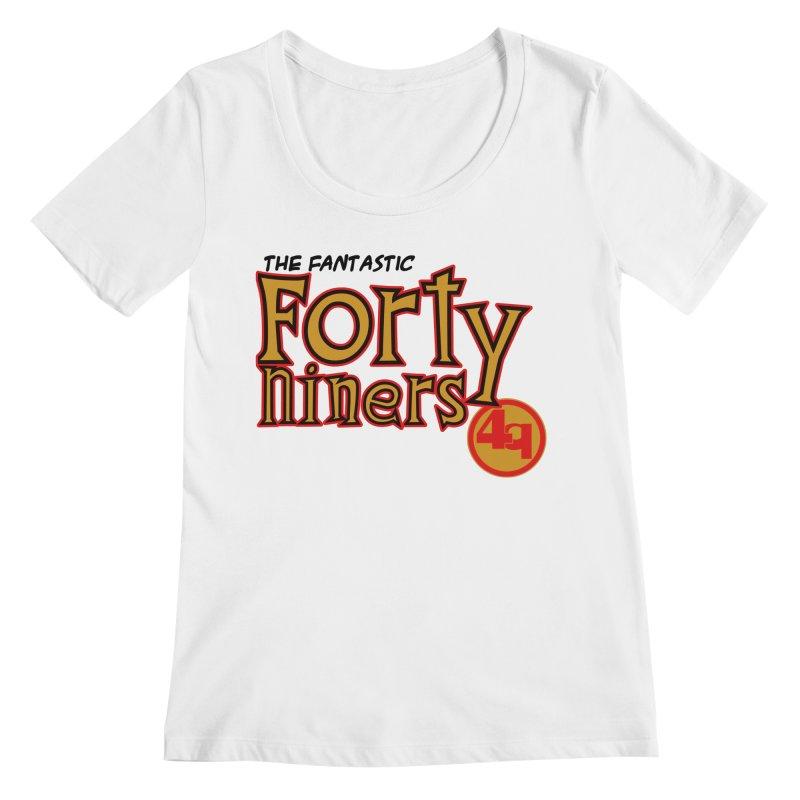 The World's Greatest Football Team! Women's Regular Scoop Neck by Mike Hampton's T-Shirt Shop