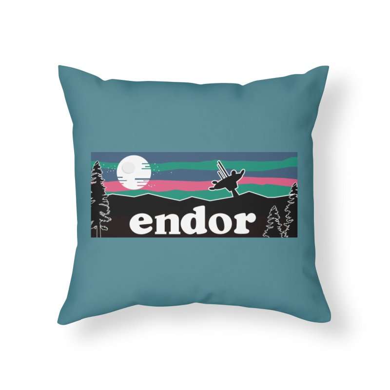 That's No Moon Home Throw Pillow by Mike Hampton's T-Shirt Shop