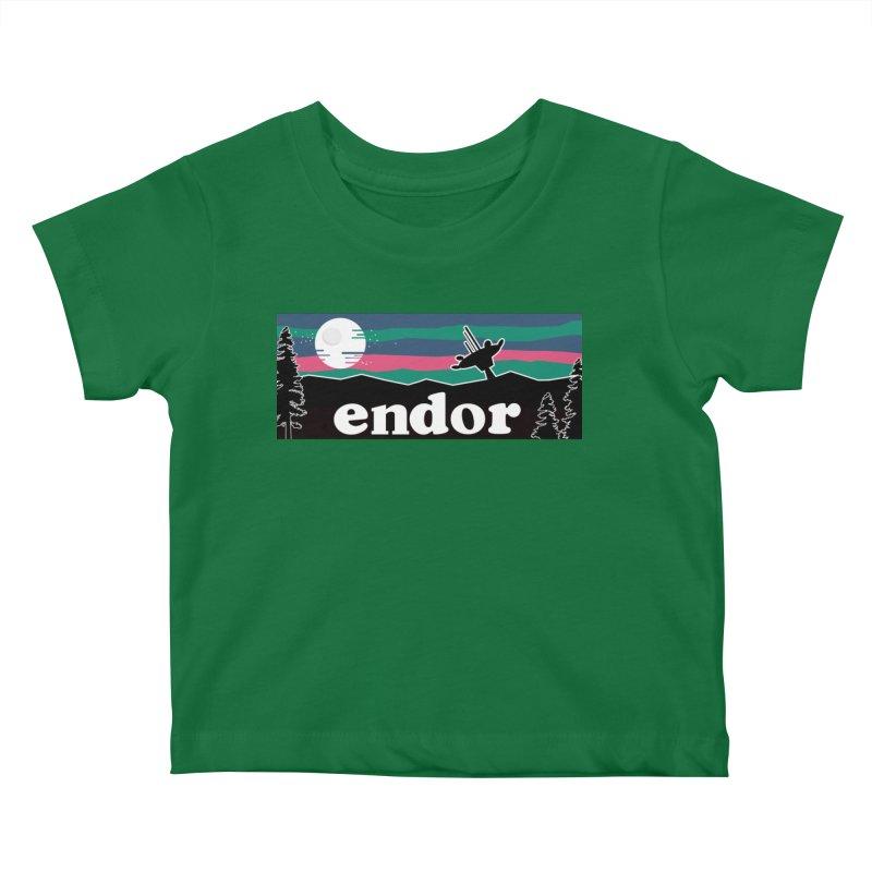 That's No Moon Kids Baby T-Shirt by Mike Hampton's T-Shirt Shop