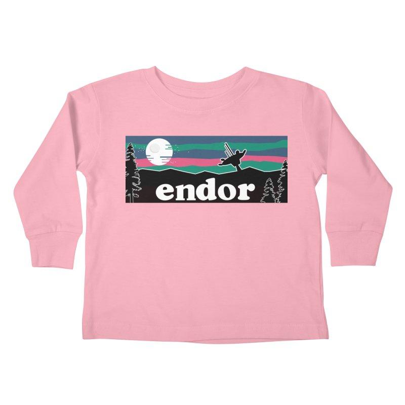 That's No Moon Kids Toddler Longsleeve T-Shirt by Mike Hampton's T-Shirt Shop