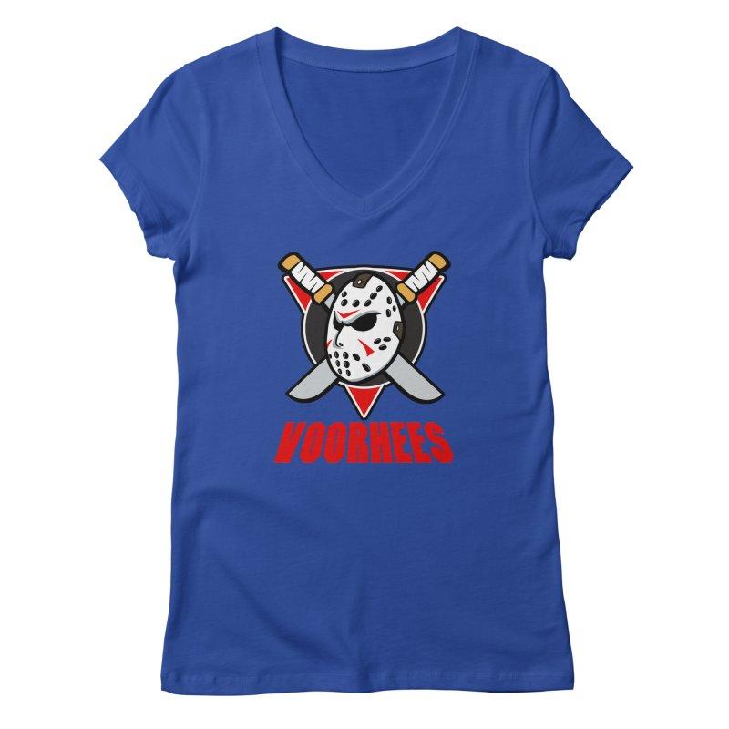 The Mighty Machete Women's Regular V-Neck by Mike Hampton's T-Shirt Shop