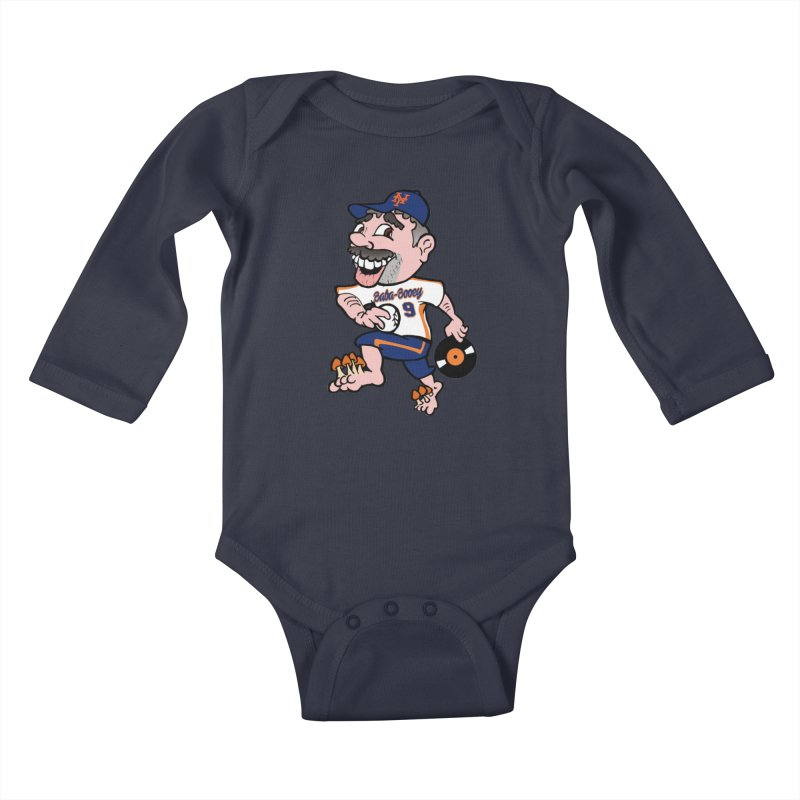 Baba-Booey! Kids Baby Longsleeve Bodysuit by Mike Hampton's T-Shirt Shop