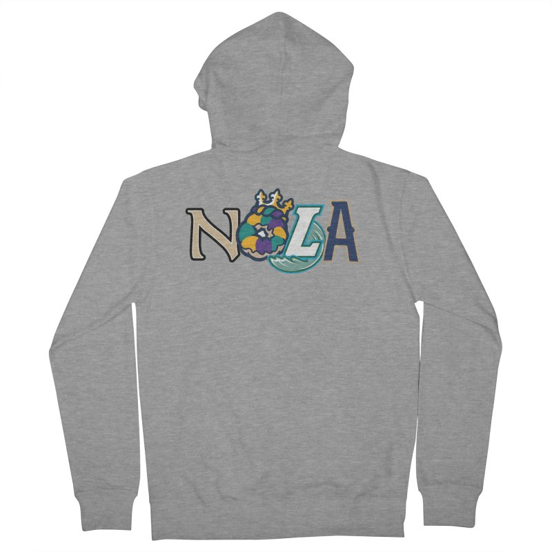 All things NOLA Women's French Terry Zip-Up Hoody by Mike Hampton's T-Shirt Shop