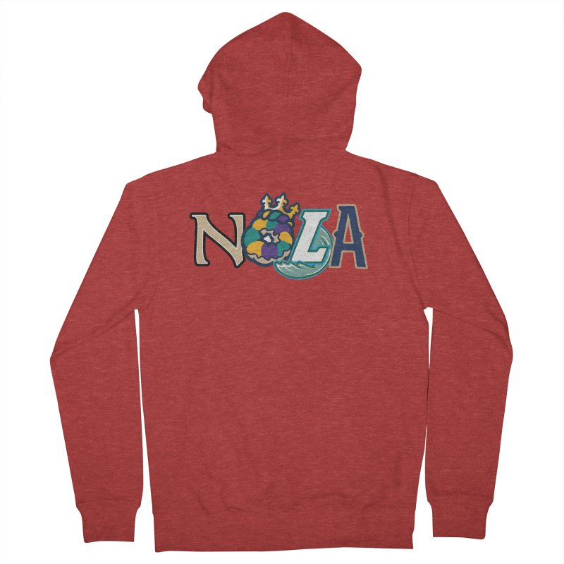 All things NOLA Men's French Terry Zip-Up Hoody by Mike Hampton's T-Shirt Shop