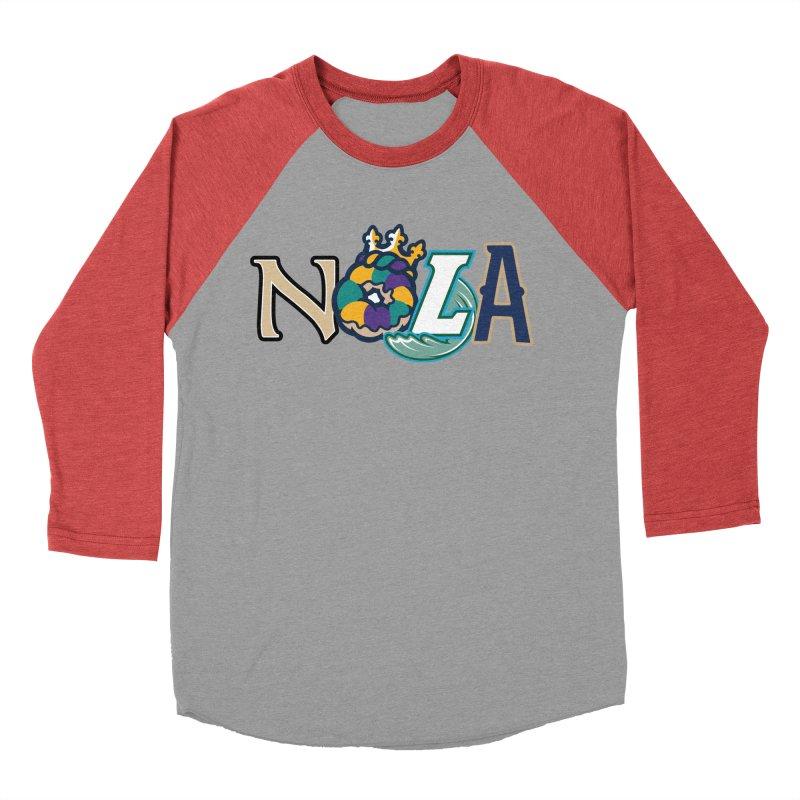 All things NOLA Women's Baseball Triblend Longsleeve T-Shirt by Mike Hampton's T-Shirt Shop