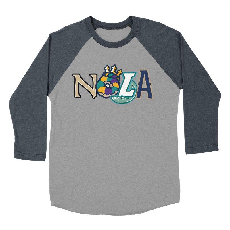 All things NOLA Men's Baseball Triblend Longsleeve T-Shirt by Mike Hampton's T-Shirt Shop