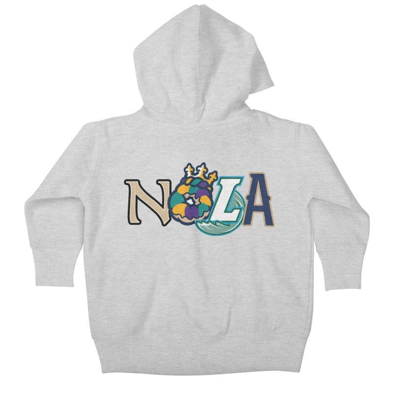 All things NOLA Kids Baby Zip-Up Hoody by Mike Hampton's T-Shirt Shop