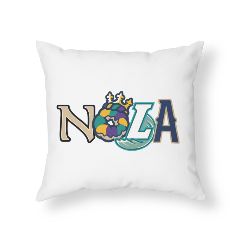 All things NOLA Home Throw Pillow by Mike Hampton's T-Shirt Shop