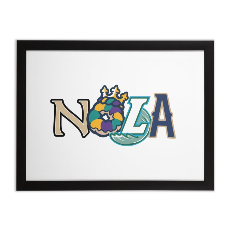 All things NOLA Home Framed Fine Art Print by Mike Hampton's T-Shirt Shop