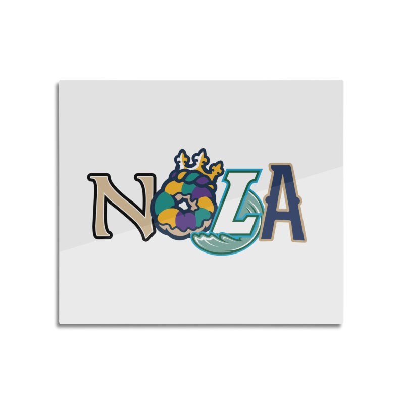 All things NOLA Home Mounted Aluminum Print by Mike Hampton's T-Shirt Shop