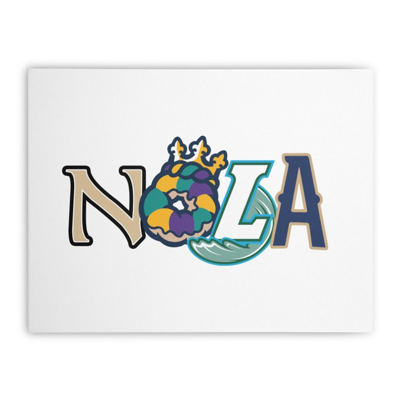 All things NOLA Home Stretched Canvas by Mike Hampton's T-Shirt Shop