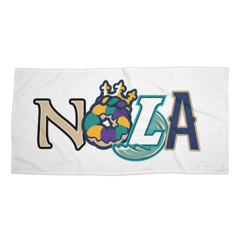All things NOLA Accessories Beach Towel by Mike Hampton's T-Shirt Shop