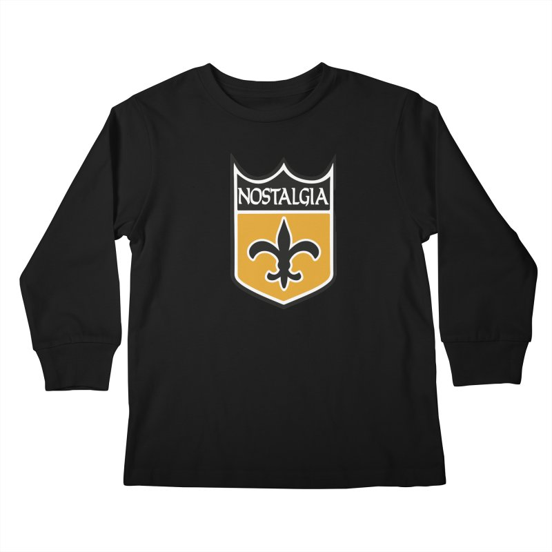 NoLastalgia Kids Longsleeve T-Shirt by Mike Hampton's T-Shirt Shop