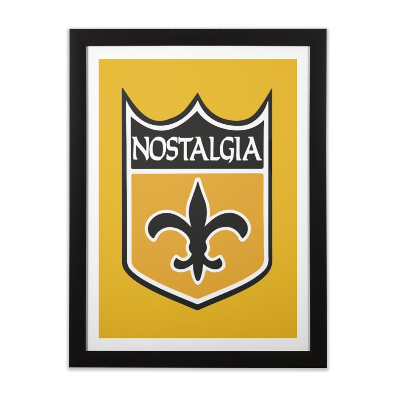 NoLastalgia Home Framed Fine Art Print by Mike Hampton's T-Shirt Shop