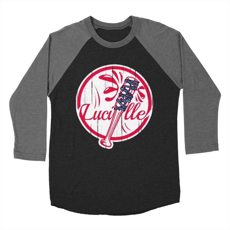 Lucille Women's Baseball Triblend Longsleeve T-Shirt by Mike Hampton's T-Shirt Shop