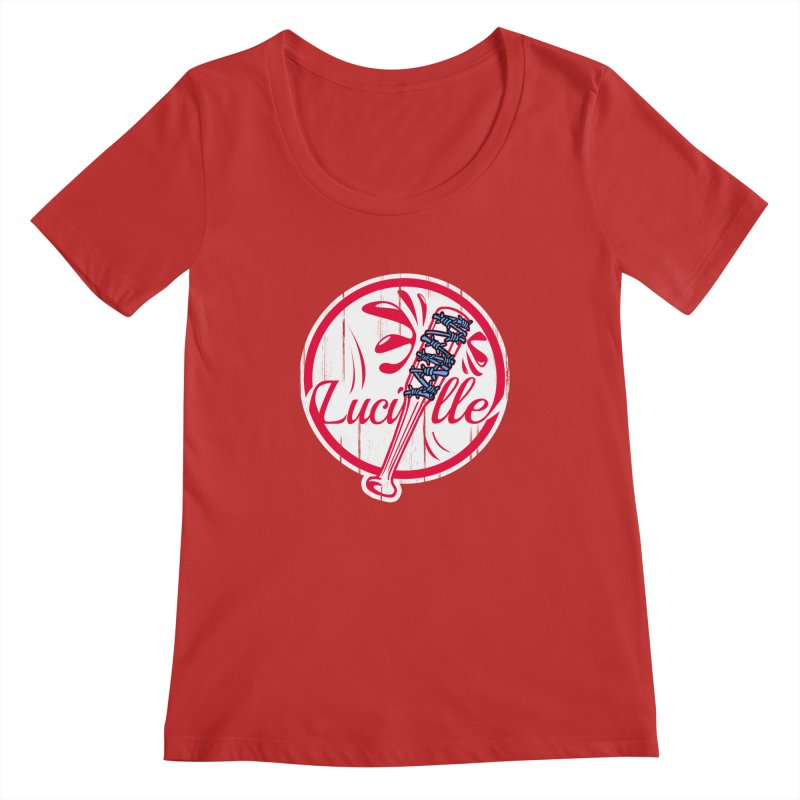Lucille Women's Regular Scoop Neck by Mike Hampton's T-Shirt Shop