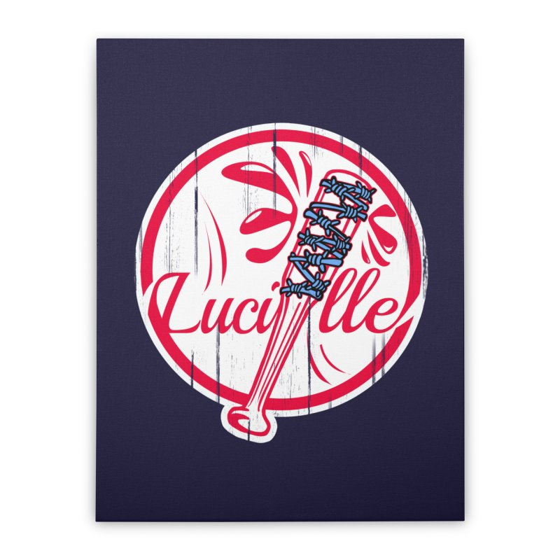 Lucille Home Stretched Canvas by Mike Hampton's T-Shirt Shop