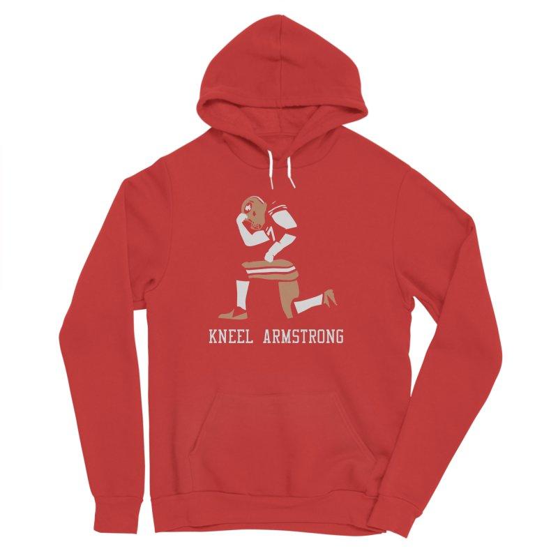 Kneel Armstrong Women's Sponge Fleece Pullover Hoody by Mike Hampton's T-Shirt Shop