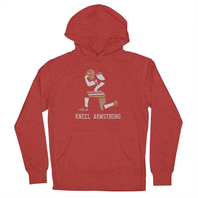 Kneel Armstrong Men's French Terry Pullover Hoody by Mike Hampton's T-Shirt Shop