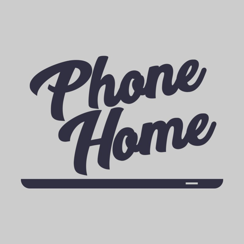 Phone Home Home Mounted Aluminum Print by Mike Hampton's T-Shirt Shop