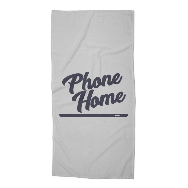 Phone Home Accessories Beach Towel by Mike Hampton's T-Shirt Shop