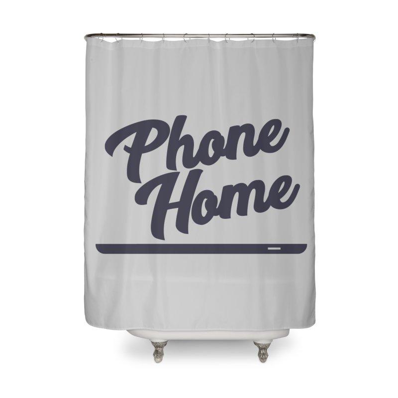 Phone Home Home Shower Curtain by Mike Hampton's T-Shirt Shop