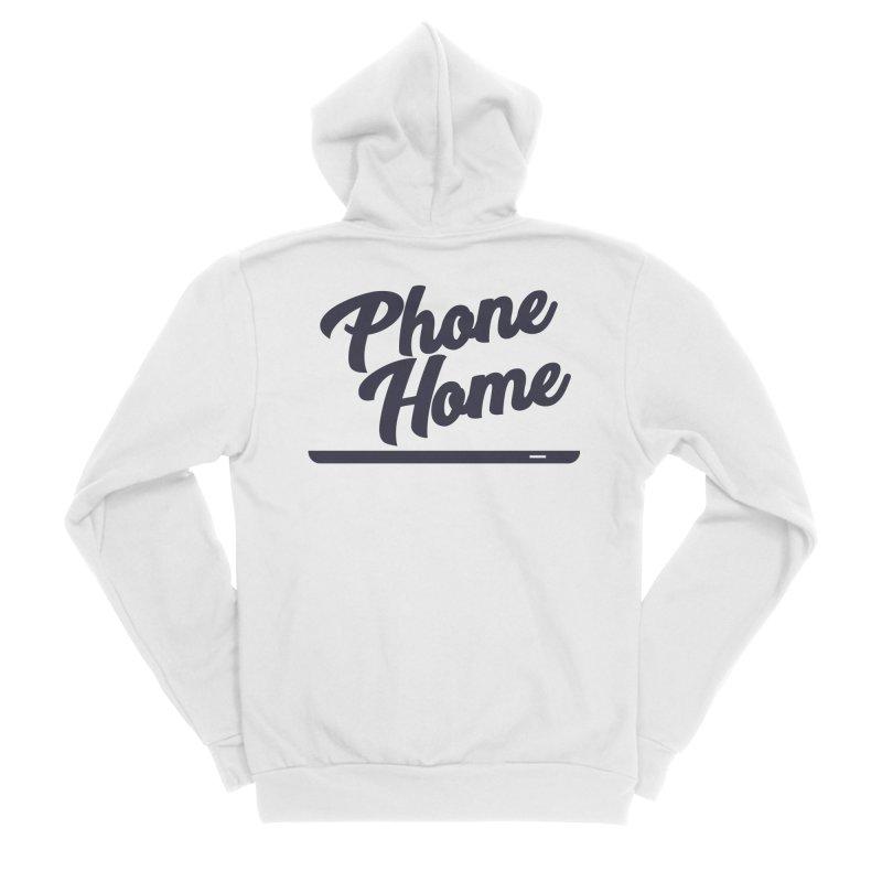 Phone Home Women's Sponge Fleece Zip-Up Hoody by Mike Hampton's T-Shirt Shop